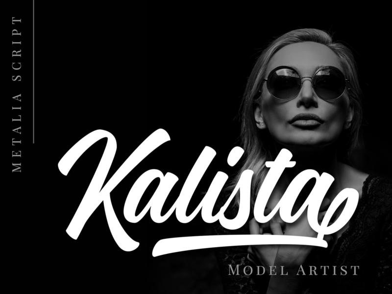 Kalista Elegant elegant script lettering brush font logo branding font logotype