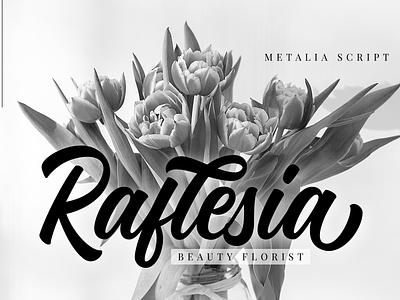 Raflesia type design font design branding script lettering logo logotype