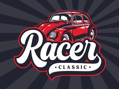 Classic Racer vintage retro poster retro font retro type design lettering branding typography font logotype