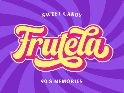 Frutela Logotype display font retro font vintage retro logo type design lettering branding typography font logotype