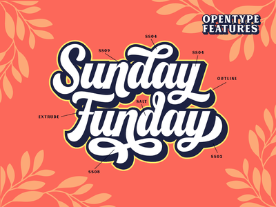 Franky - Opentype Features type design branding script lettering alternates opentype logotype lettering font typography