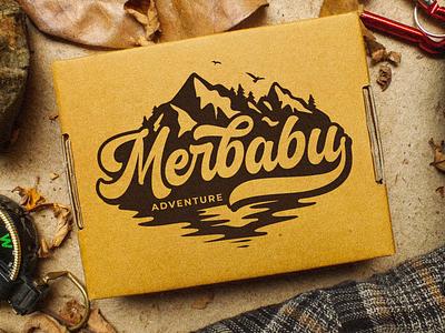Merbabu Adventure Logotype outdoor logo outdoor badge adventure logo adventure mountain logo mountain illustration type design branding lettering typography font logotype logo