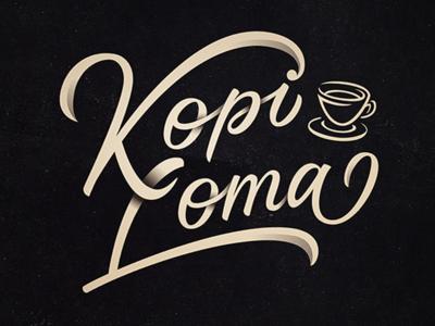 Kopi Loma Logotype typography type design lettering coffee branding logotype