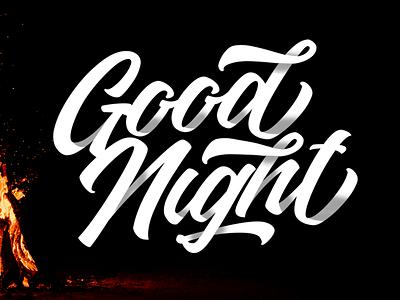 Good Night branding font typography logotype lettering