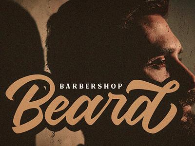 Beard Logotype barber logo vintage retro logo hand lettering font branding logotype