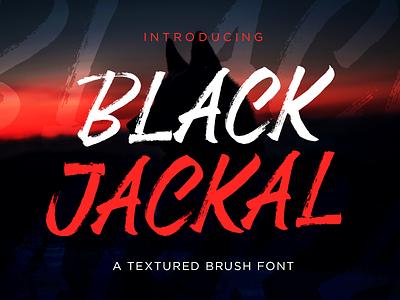 Black Jackal - Brush Font typeface font brush calligraphy type design typography logotype textured font display font brush font