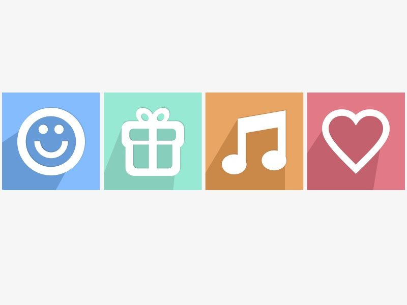 Flat UI icons - #365Gifts Download freebie icon free download psd photoshop flat ui ux interface app