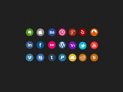 Social Icons - #365Gifts Download anakarenart uxnavy freebie icon free download psd photoshop flat ui ux interface app