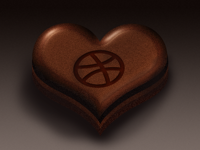 Dribbble, Would you be my Valentine? dribbble icon 14 valentine february love chocolate