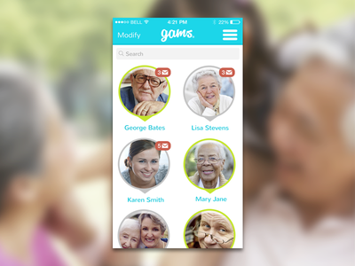 Gams - Chats ios app chat