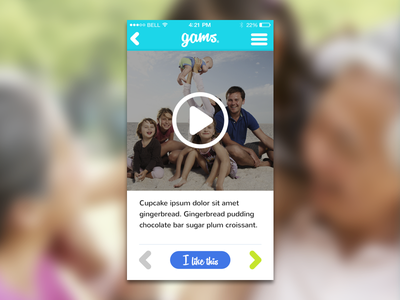 Gams - Video ios app video view