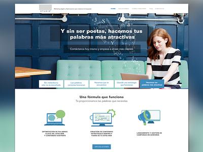 Ixi Studio - Home Page home page website web design slider