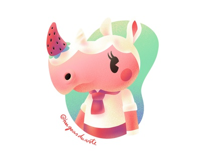 Merengue procreate ipad mini ipad strawberry animal crossing illustration