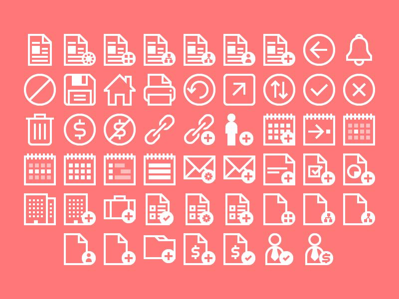 Icon Set icons web