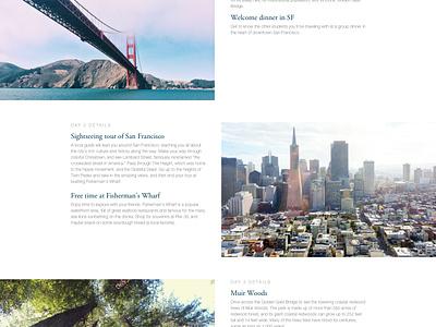 Tour Site - Tour Page white green magenta san francisco california travel tours