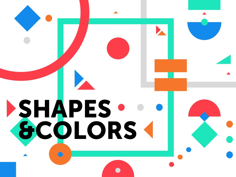 Shapes & Colors rectangles triangles squares circles colors shapes
