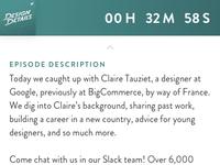 Episode description