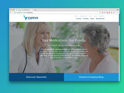 Curexa.com Launched ✨ marketing launch sans-grid no-grid curexa pharma pharmacy website