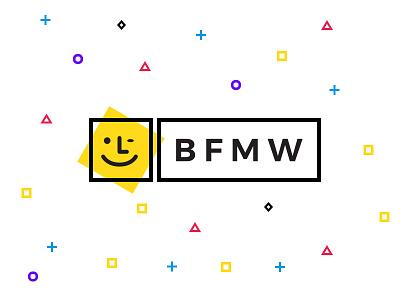 BFMW Branding colors shapes friends websites yellow mark logomark logo branding
