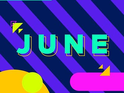 June Mixtape mixtape cover colors shapes june