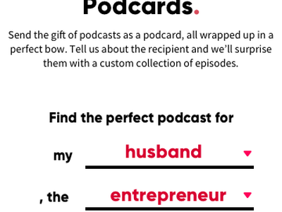 Podcards ios android wrapping gift box christmas gifty podcards podcard podcast
