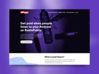 Podcasting Paid Listens Landing Page