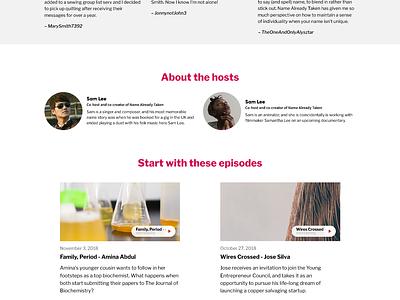 Podcast Website Template podcast website