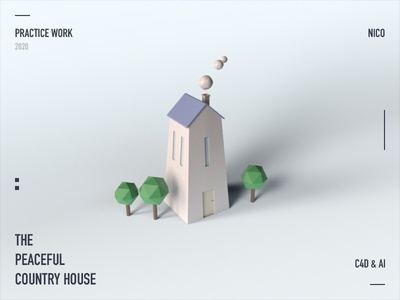 Country House design c4d