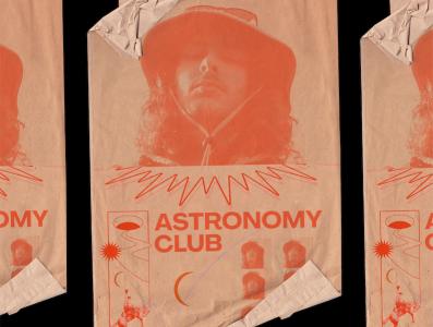Astronomy Club Promo poster design branding album design typography illustration branding and identity music art direction mockups mockup poster art poster