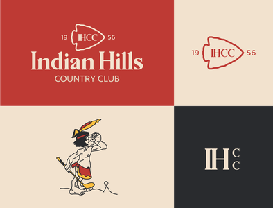 Indian Hills Country Club adobe illustrator typography branding identity design brand design logodesign native american illustration logotype logo design golf course golf club branding identity brandingandidentity logo branding art direction