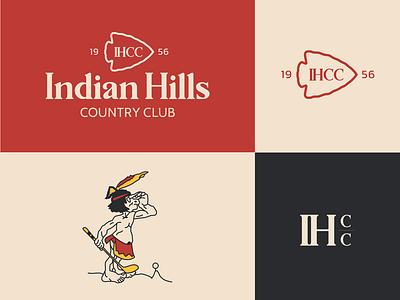 Indian Hills Country Club adobe illustrator typography branding identity design brand design logodesign native american illustration logotype logo design golf course golf club branding identity brandingandidentity logo branding art direction