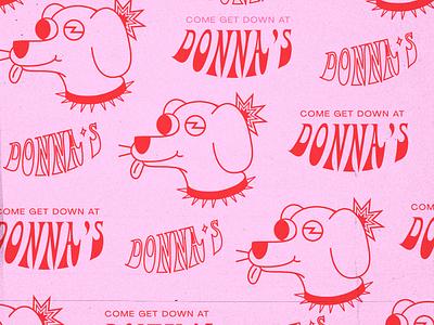 Donna's Wall Art dog illustration dog logo dog bar branding bar design bar branding concept branding and identity brand identity branding design vector illustraion design logo