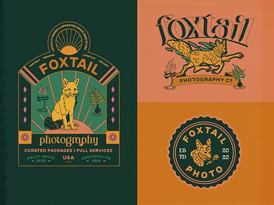 Foxtail photography adobe illustrator vector logo illustrator branding design typography branding illustration art direction