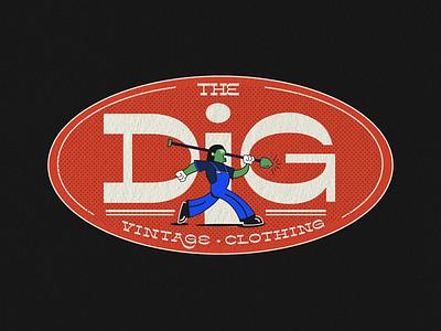 The Dig badge art dailydoseofvisuals adobe photoshop adobe illustrator branding branding design art direction branding and identity logotype logo design logo typography
