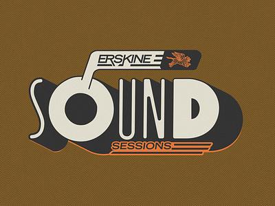 Erskine Sessions 2d 3d abstract adobe photoshop adobe illustrator dailydoseofvisuals sound session typography logotype branding design logo branding illustration art direction
