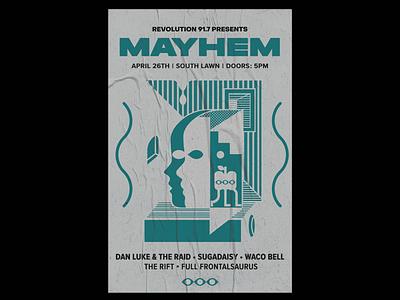 Mayhem Poster Variant mockup mockups art direction editorial design print designer print design adobe illustrator illustration