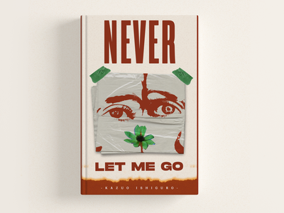 Never Let Me Go typedesign type book cover mockup typography design typography art direction book cover book covers book design