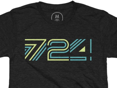 724 is the new 412 t shirt design