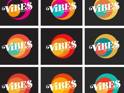 Vibes Color Studies tee shirt typogaphy 70s retro