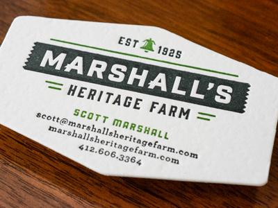 Marshalls farm letterpress card custom die farm letterpress