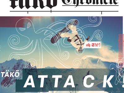 winter newspaper menu cover tako
