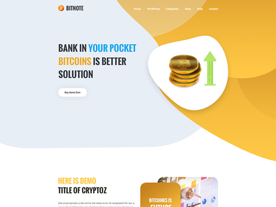 Cryptoz-CryptoCurrency PSD Template