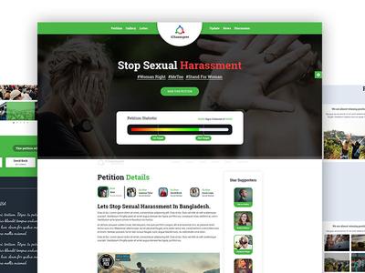 iChaaangeee - Petition & Social Awareness  HTML Template