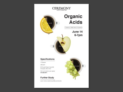 Organic Acids Poster