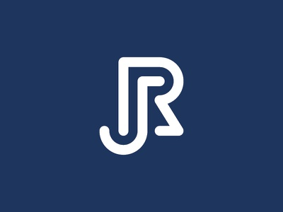 JR Monogram monogram typography identity branding logo