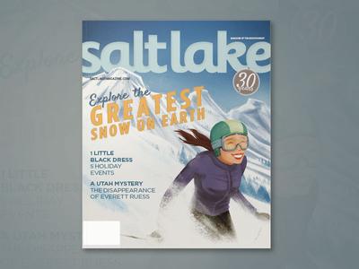 SLM Ski Illustration Cover