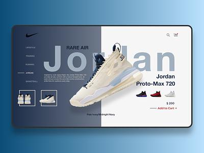 Jordans basketball nike jordan adobe xd web ui web design