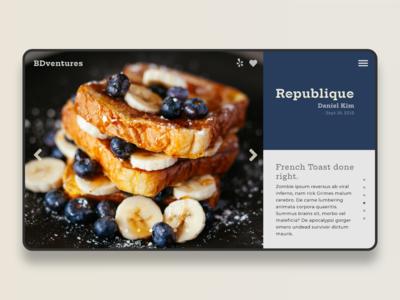 Minimal food blog