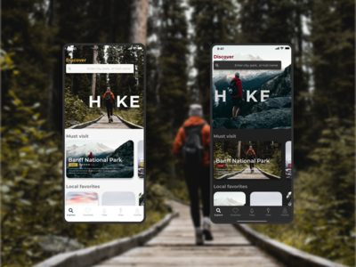 Hike Trail app with alternate