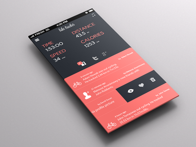 BIKE TRACKER bike tracker app application colours flat iphone ui ux design mobile ios
